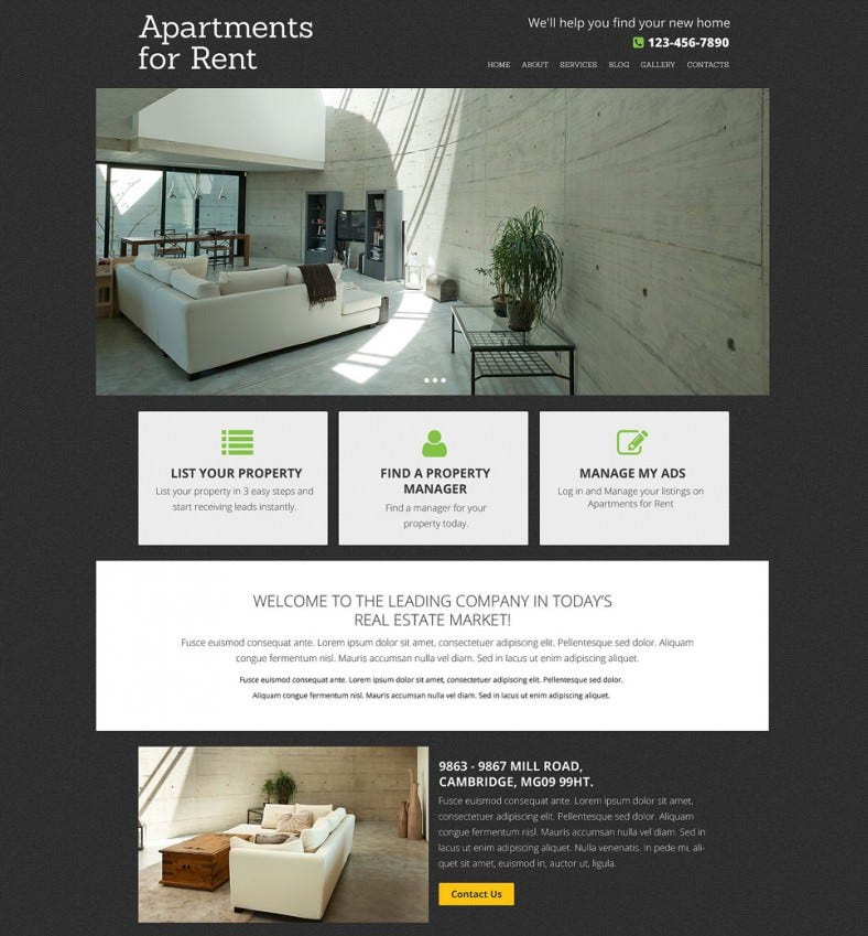 simple real estate agency drupal template 75 788x849