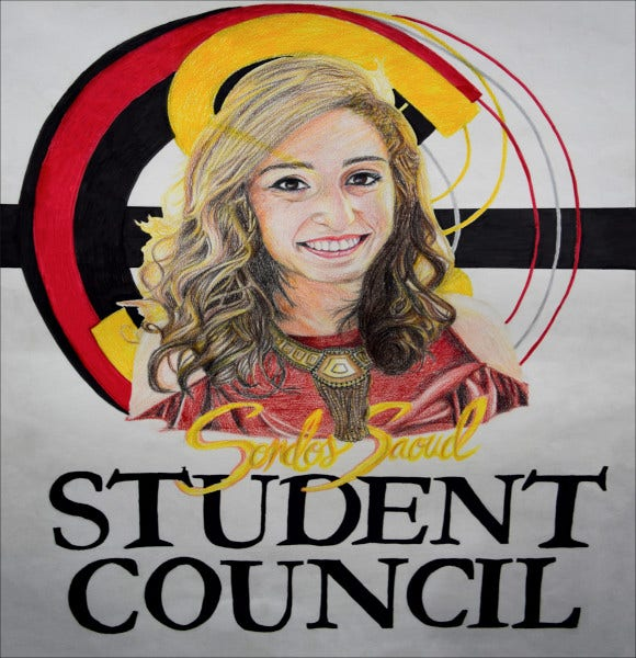simple student council poster template