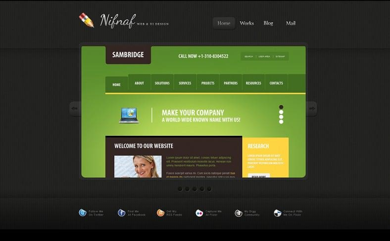 simple web development company portfolio joomla theme 75 788x488