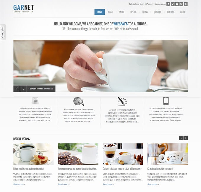 simple and flat drupal theme