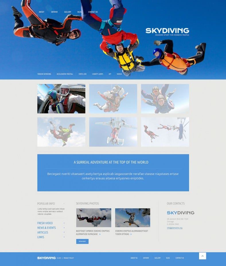 skydiving blue responsive wordpress theme 75 788x926