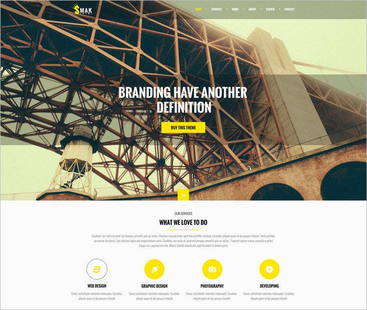 smak psd one page web template