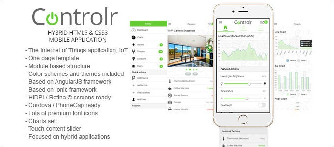 smart house hybrid web application template