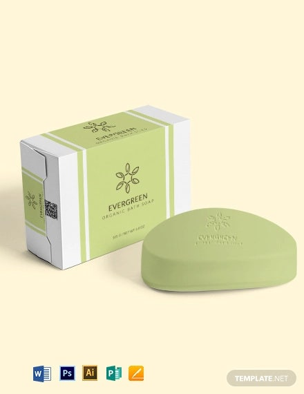 soap label wrap template