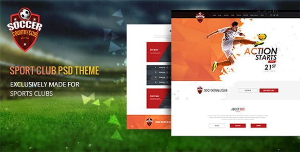 soccer club multipurpose psd template