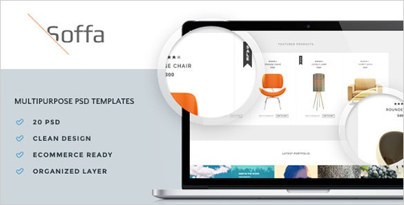 soffa multipurpose psd template