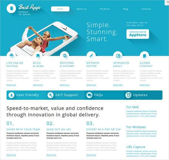 software company bootstrap website template1