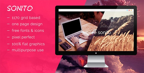 sonito creative psd template