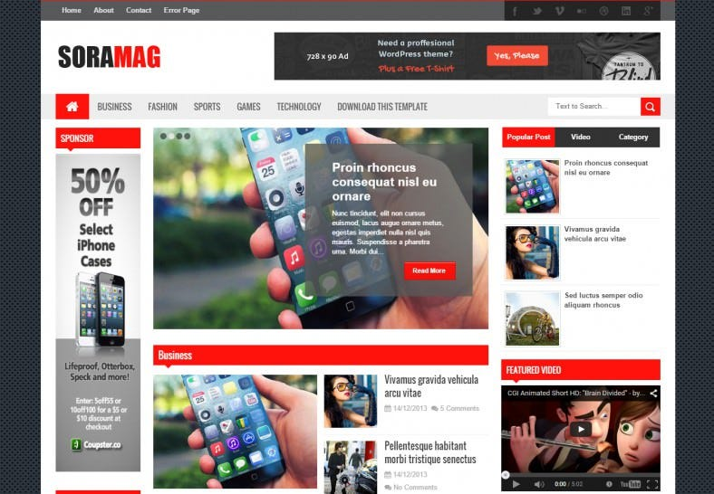 Fast Loading Free Blogger Theme