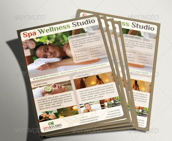 Spa Menu Templates Free