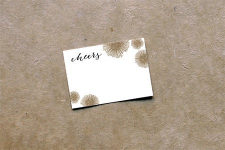 sparkle note card template download