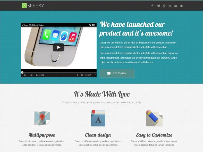 speeky – ebook app and product landing page 788x591
