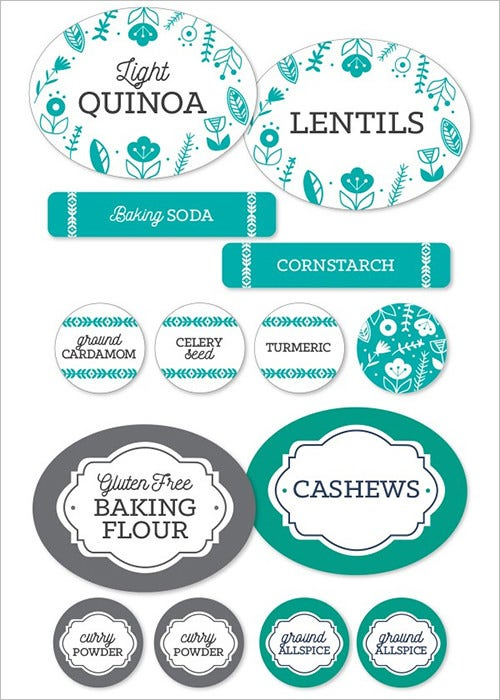 spice food labels template