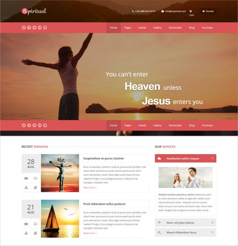 15 Best Spiritual Website Templates |Free & Premium Themes | Free ...
