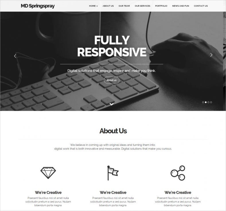 springspray multipurpose drupal theme 788x735