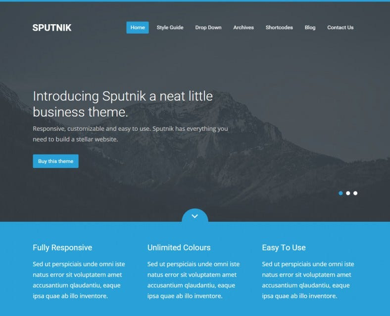 20 Best Blue Wordpress Templates Amp Themes Free Amp Premium