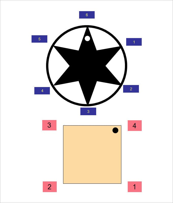 square and star shape rotational symmetry worksheets template