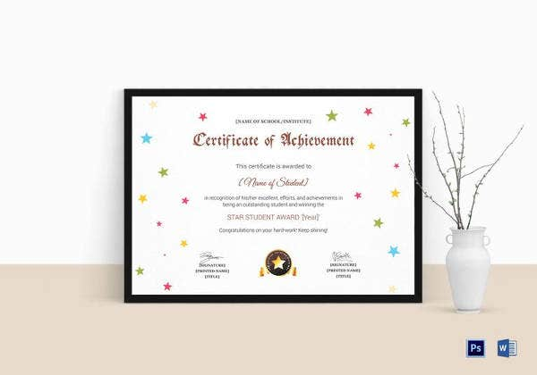 star-achievement-certificate-template