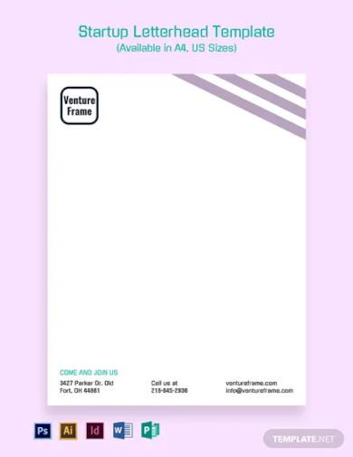 startup letterhead template