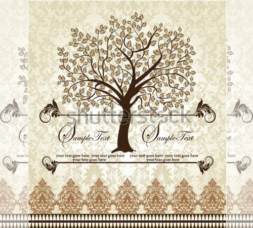 stock vector family reunion invitation template