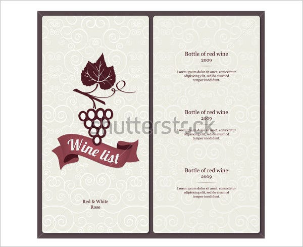 Wine Menu Template – 25+ Free PSD, EPS Documents Download! | Free ...