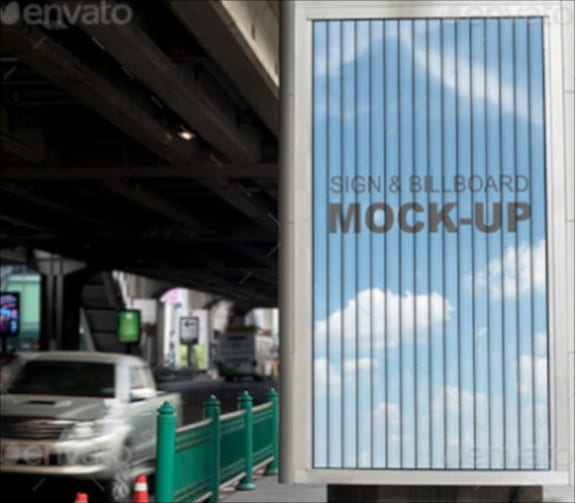 street bill board mockup template