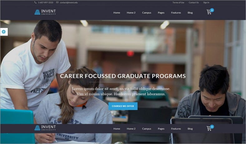 student invent education course college wordpress theme – 58 788x462