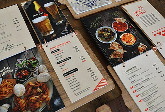 stylish bar menu psd template