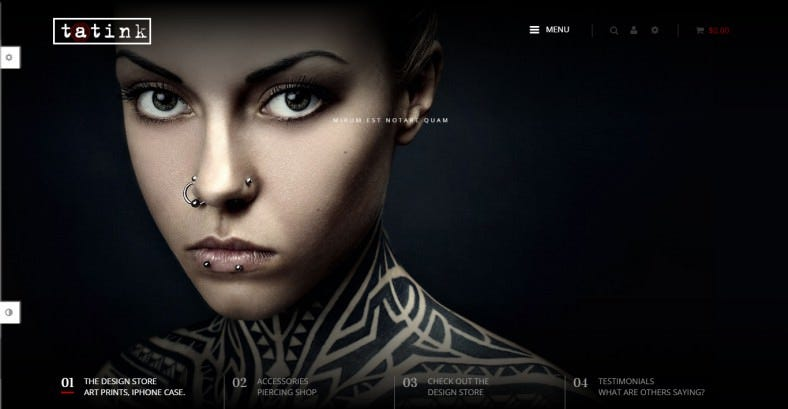 10 best tattoo shop website templates free premium themes free premium templates. Black Bedroom Furniture Sets. Home Design Ideas