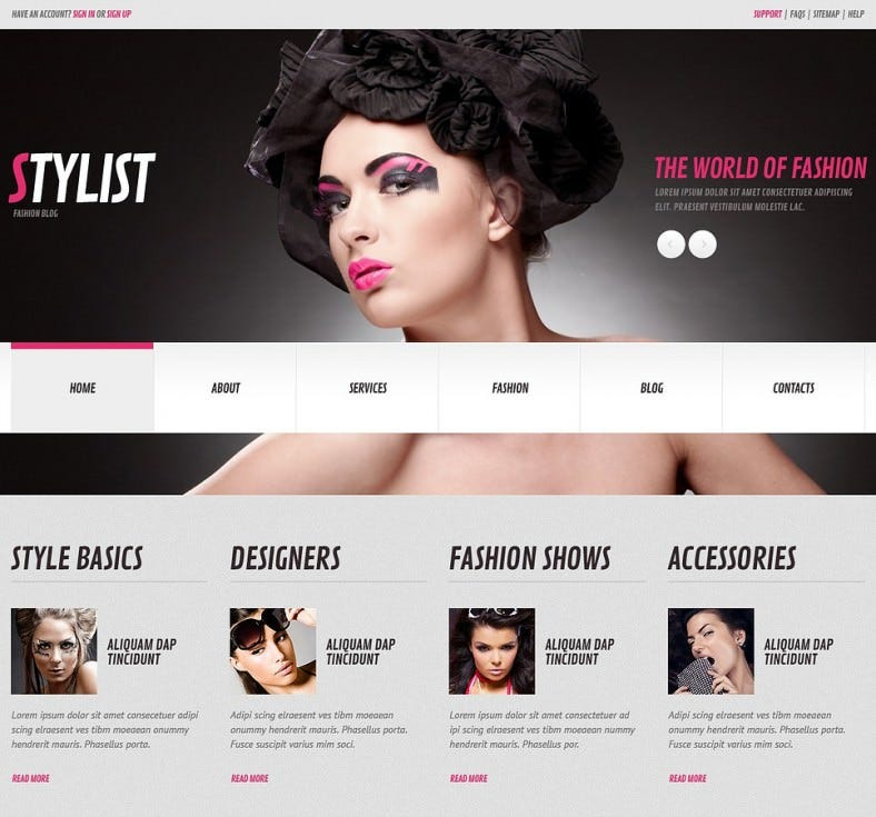 stylist pink responsive wordpress template 75 788x735