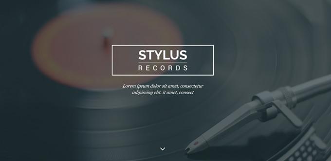 stylus free psd clean minimal site deisgn