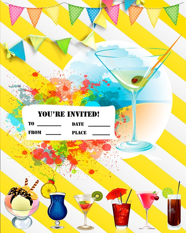 summer party invitations templates .