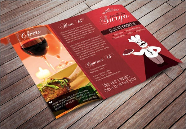 surya restaurant menu card template