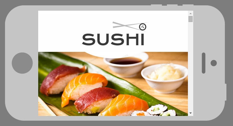 sushi bar responsive newsletter template