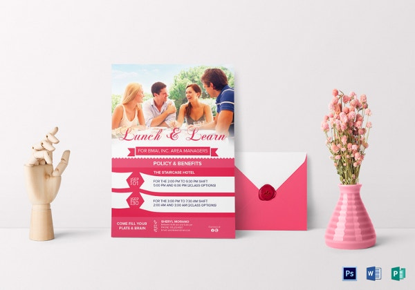 sweet lunch learn invitation template