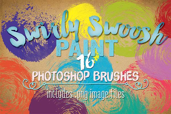 swirly swoosh paint ps brushes