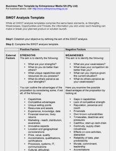 10 Swot Analysis Templates Free Word Doc Ppt Excel Download