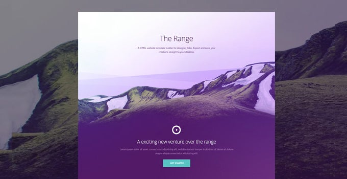 the range single pager free psd website template