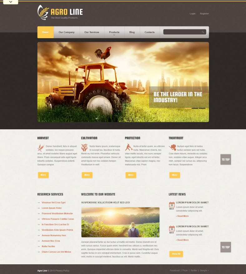 Tasty Agriculture Drupal Template