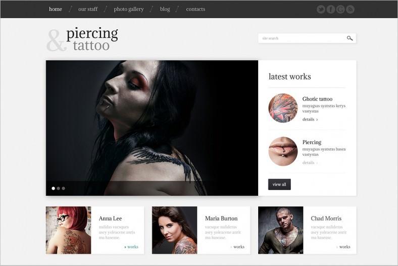 Tattoo Portfolio Responsive Theme