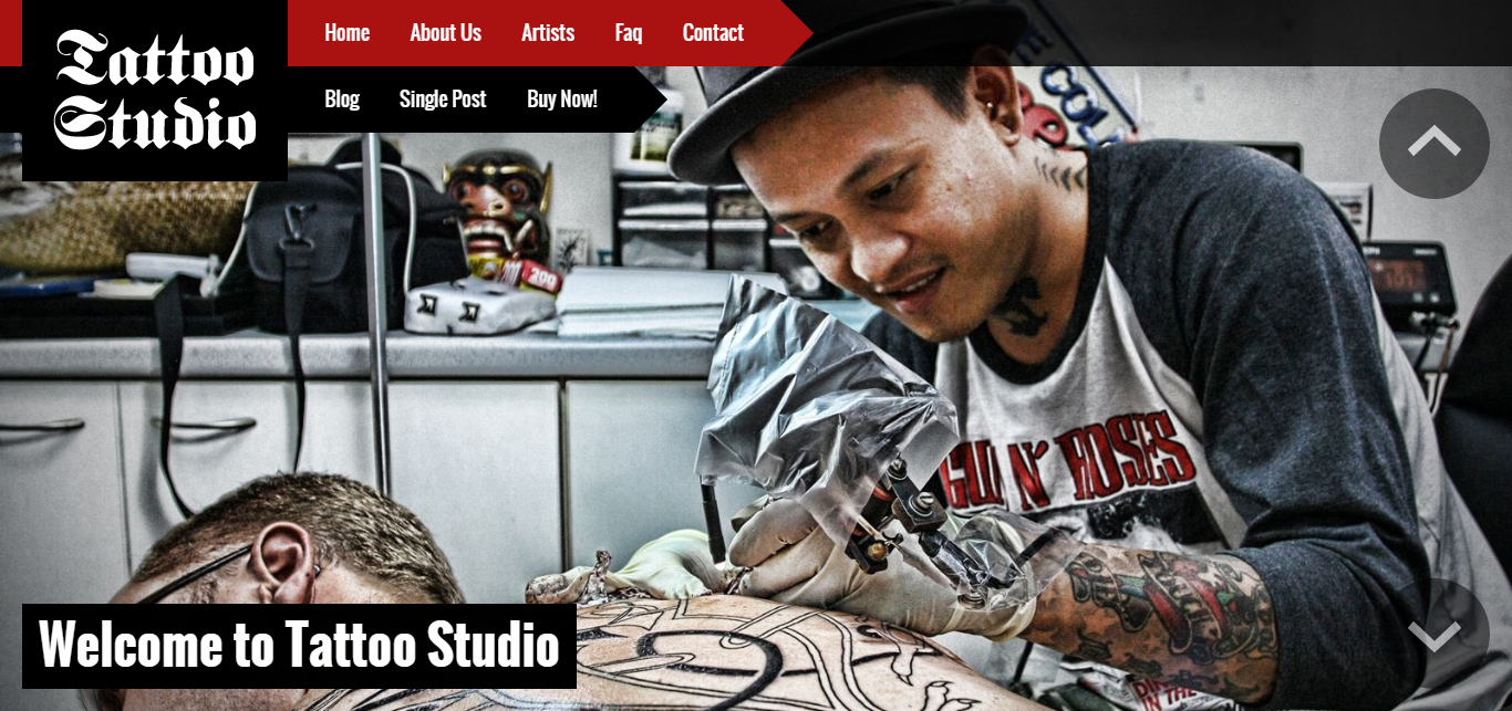 10 best tattoo shop website templates free premium for Tattoo nightmares shop website