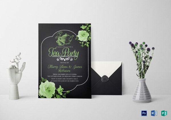tea-party-invitation-card-template
