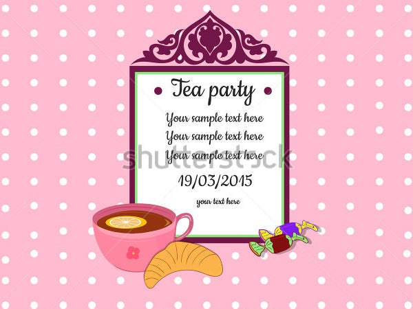 Tea Party Invitation Pink