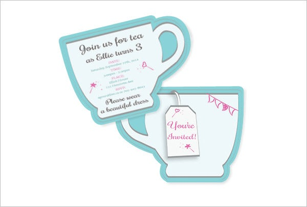 Tea Party Invitation Template Free PSD EPS Indesign Format - Bridal tea party invitation template