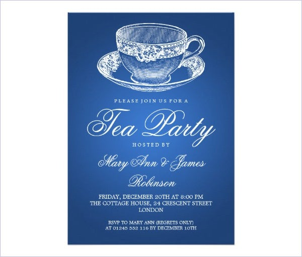 tea party vintage tea cup blue1