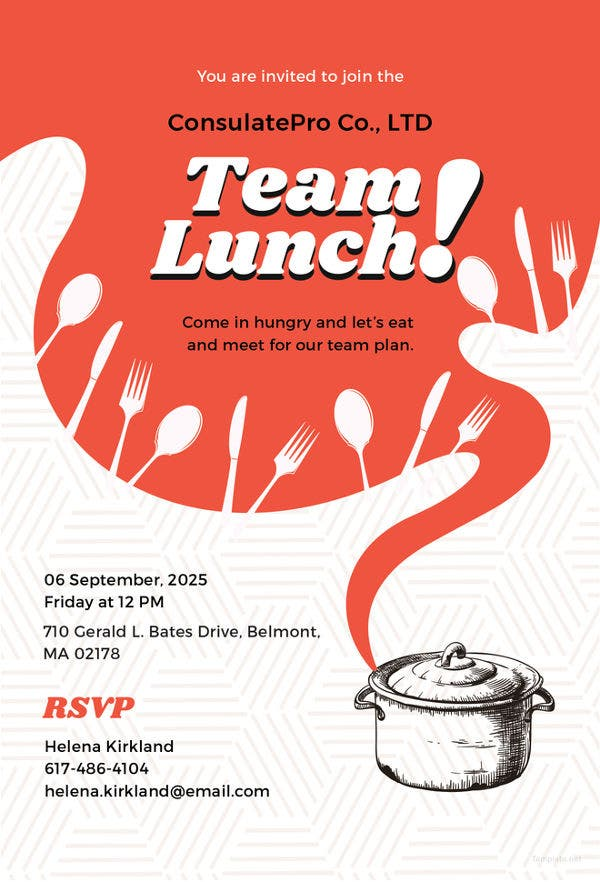 team-lunch-invitation-template