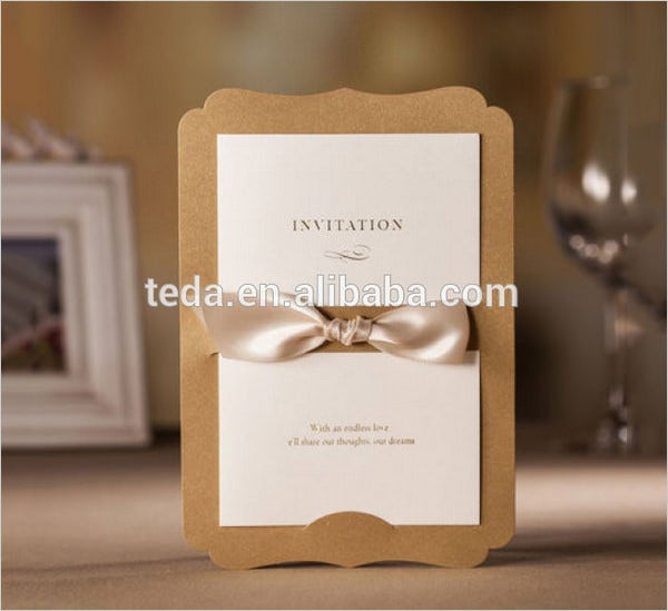 teda champagne paper menu gift cards