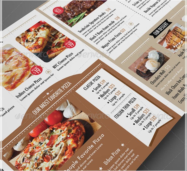 the amazing restaurant dinner menu template