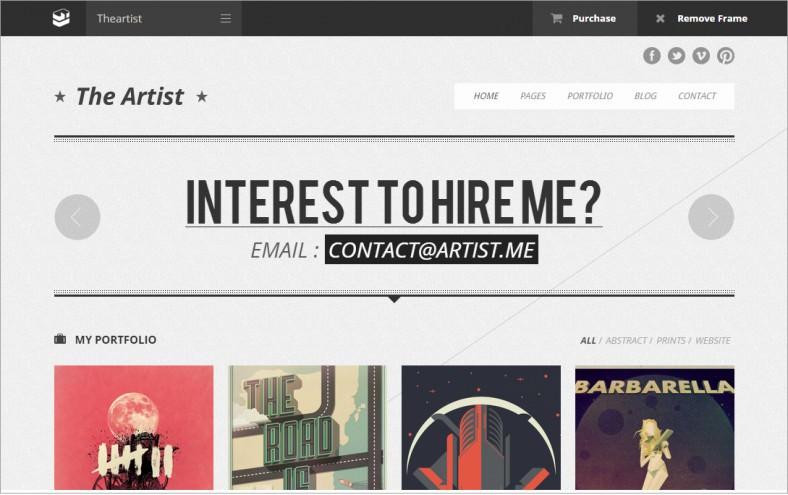 the artists portfolio responsive wordpress theme 48 788x495