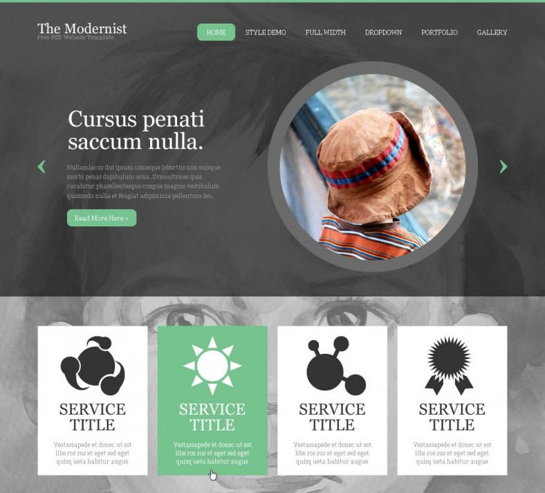 the modernist free psd website template 788x712